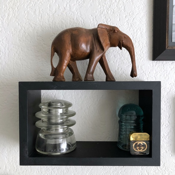 Hand Carved Elephant Wooden Figure Statue Wood